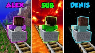 Baixar ALEX vs SUB vs DENIS - MINECART ADVENTURE in Minecraft! (The Pals)