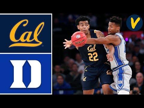 2019 College Basketball #1 Duke Vs Cal Highlights
