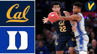 2019 College Basketball #1 Duke vs Cal Highlights