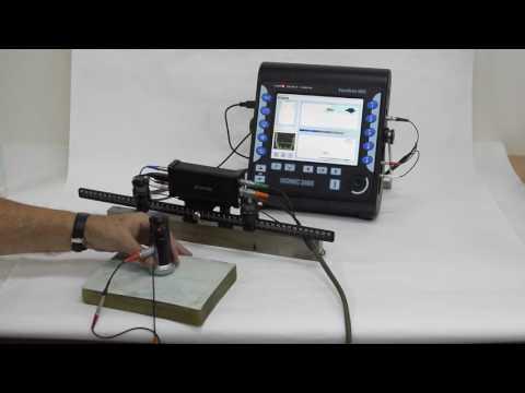 ISONIC 3505: XY Raster Scanning - Flaw Detection - GFRP Sample - Airborne Ultrasound Encoder