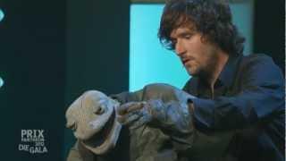 Michael Hatzius & die Echse beim Prix Pantheon mit Eckart von Hirschhausen