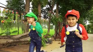 เอาตัวรอดจากบราวเซอร์!! ช่วยพี่เกรซถูกจับ เกมชีวิตจริง Mario Maker 2 in Real Life - วินริวสไมล์