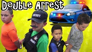 KID ESCAPES ARREST! SUSPECT in COP CAR FREED by PARTNER IN CRIME!