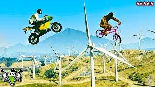 GTA 5 ULTIMATE RAGE Bike Races!! Insane Windmill Fails & Sky High Stunt Racing (GTA 5 Funny Moments)