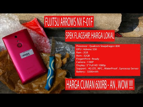 Unboxing & Hands-On Fujitsu Arrows NX F-01F [Indonesia]