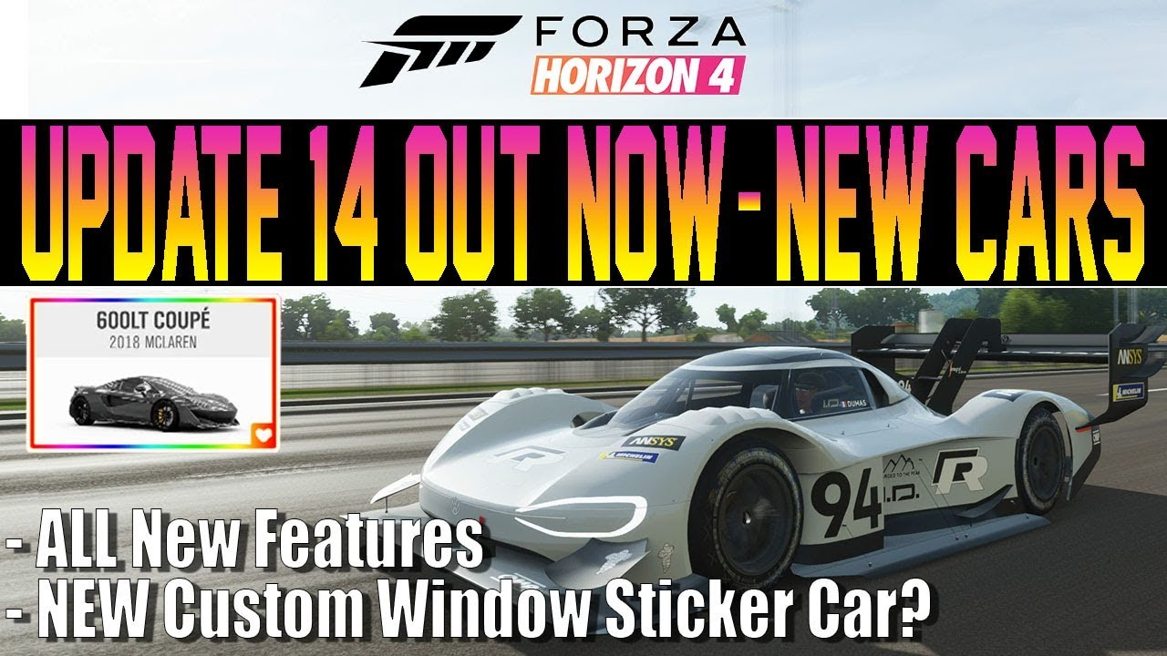 Forza Horizon Car Custom Sticker
