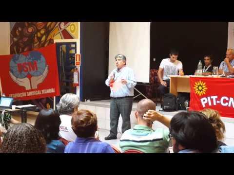 José Rigane en 7# Encuentro Sindical Nuestra América en Montevideo, Uruguay 2016