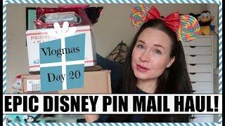 DISNEY PIN MAIL OPENING! Rare limited editions, fantasy pins & more! Vlogmas Day 20