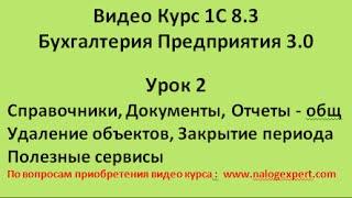 1С 8.3 Видео самоучитель «от Настроек до Баланса»  Бухгалтерия предприятия 3.0   Урок 2