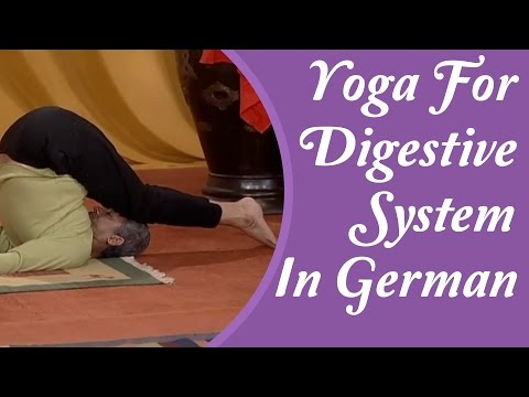 Yoga For Digestive System - Reduce Belly Bloating, Gas and Constipation | Yoga Tutorial In German