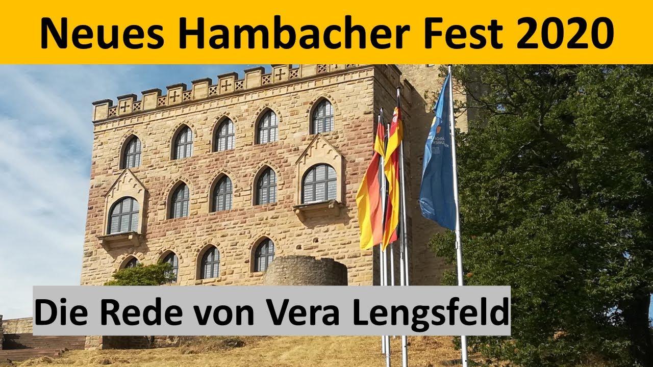 NEUES HAMBACHER FEST 2020 - Dankesrede für ihre Auszeichnung