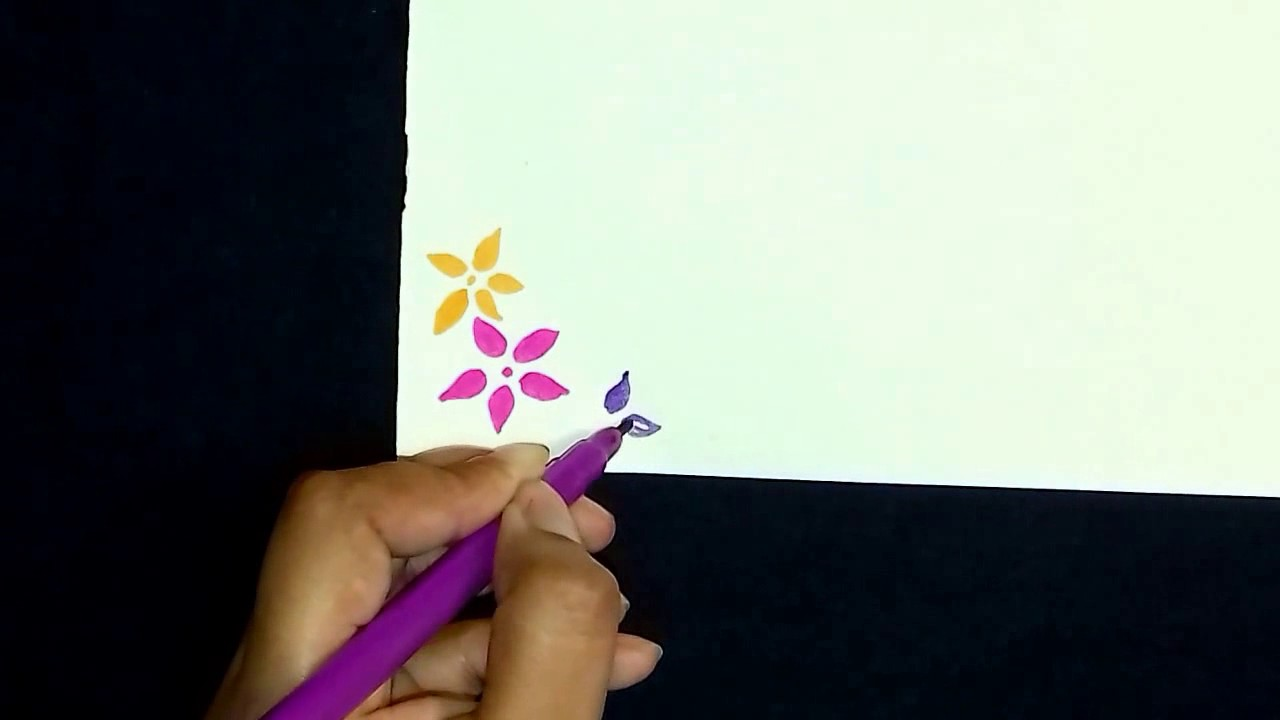 How to draw simple and easy border design also youtube rh