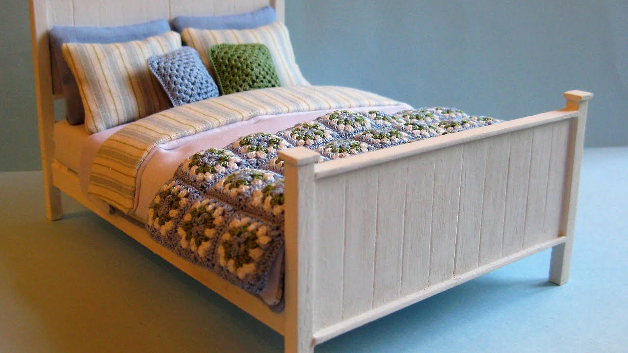 1 12th Scale Double Bed Tutorial Part One Youtube