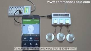 Téléphone Portable GSM Prise d'Alimentation Intelligent Commande Lampes CA
