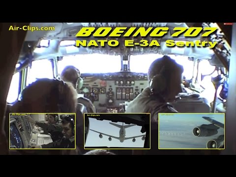 Boeing 707 E-3A NATO full mission, air refueling & interior