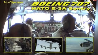 Boeing 707 E-3A NATO full mission, air refueling & interior views! [AirClips full flight series]
