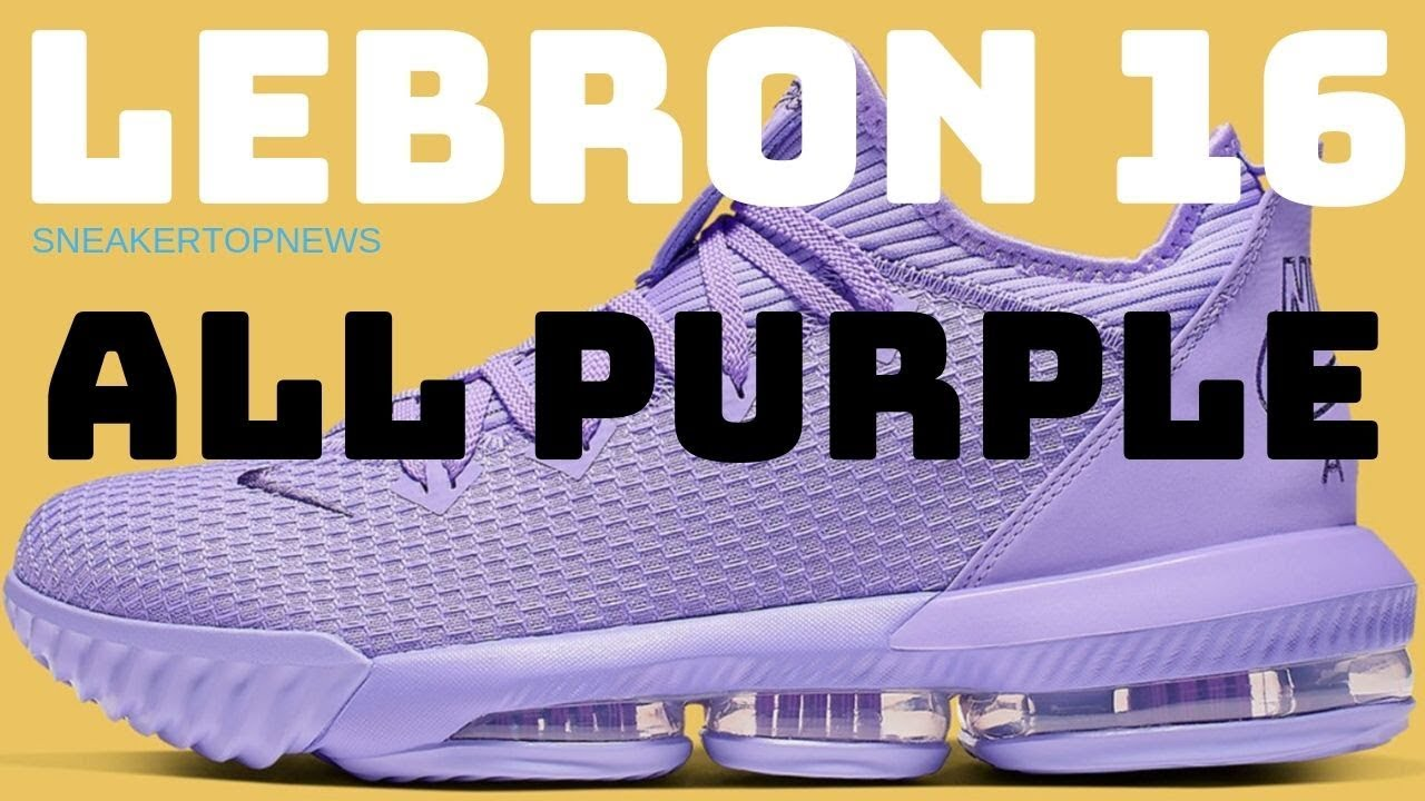 cheap for discount 1b0d3 a8690 The Nike LeBron 16 Low Is Coming Soon In All Purple - YouTube