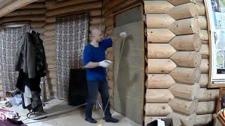 Стройка деревянного дома своими руками. Личный блог и опыт. Утепляю дверь, ремонт уаза, ревизия окон