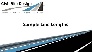 Civil Site Design - Roads - Sample Line Lengths