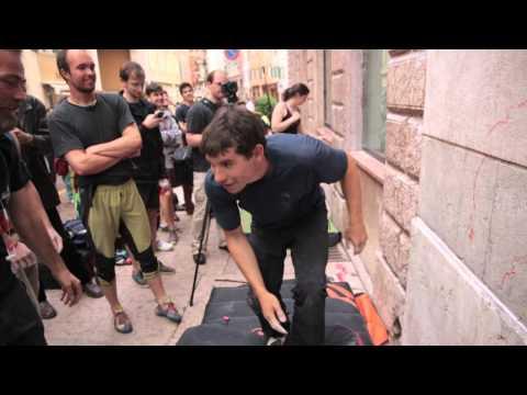 ALEX HONNOLD - La sua prima volta in Italia