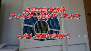加湿空気清浄機のフィルターをクエン酸洗浄した結果とんでもないことに!!