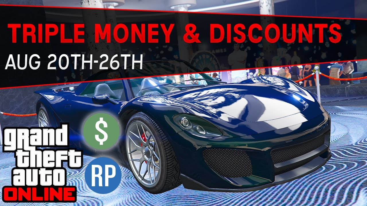 GTA Online Triple & Double Money and Discounts This Week (GTA 5 Event Week)   August 20th-26th