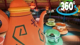 360º Ride on Mad Tea Party at Magic Kingdom