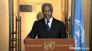 Kofi Annan warns against Syria escalation.