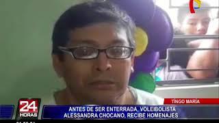 Caso Alessandra Chocano: rinden homenaje al cuerpo de voleibolista en Tingo María