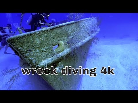4k UNDERWATER SHIPWRECK DIVING  STUART COVE NASSAU BAHAMAS UHD best scuba dive in the world