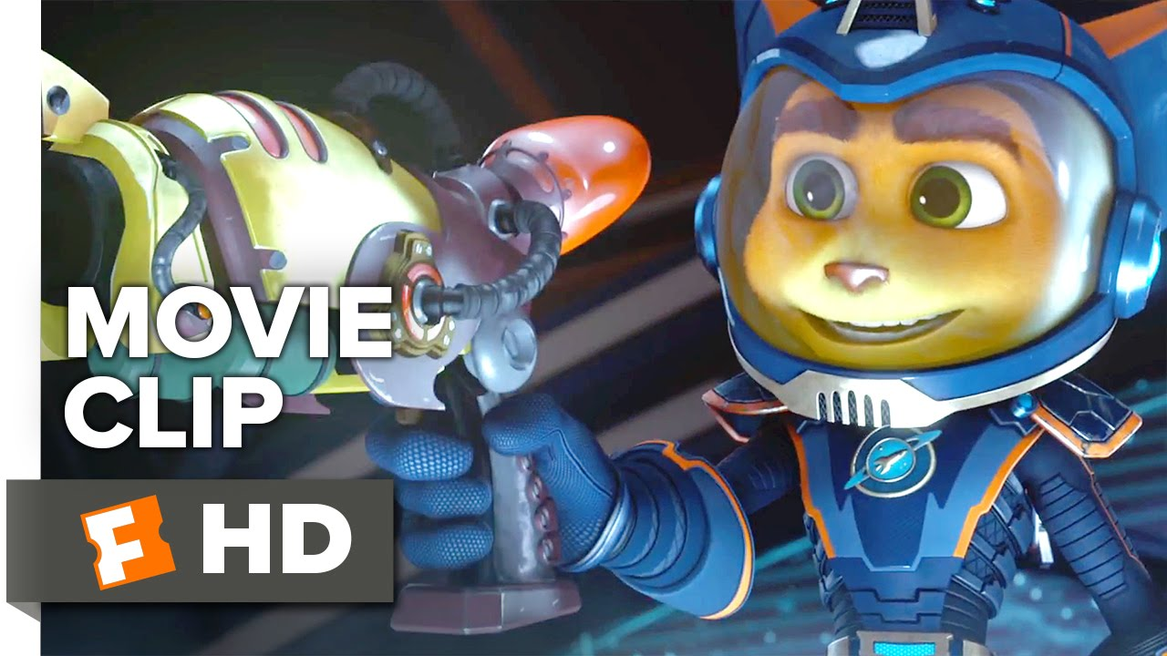 Ratchet Clank Movie Clip Combat Gear 2016 Rosario Dawson Paul Giamatti Movie Hd Youtube