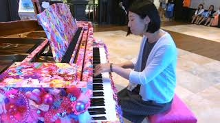 丸の内で開催中のアートピアノで「春よ来い」耳コピアレンジを弾いてき...