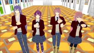 Kamui Gakupo , Gakuko , Luka/Luki Megurine - Mosaic Roll [MMD] +Link Model