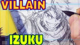 Drawing Izuku Midoriya as a Villain - New Redesign | Anime Manga Sketch