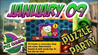 PvZ Heroes: Daily Challenge 01/09/2019 (January 09) – Puzzle Party [January 09th]