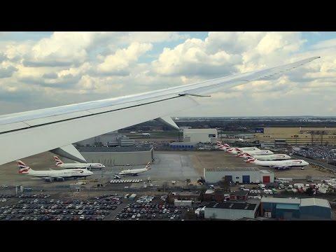 British Airways Boeing 787-9 Approach and Landing at London Heathrow Airport
