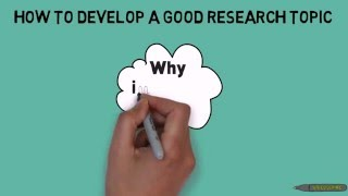 How to Develop a Good Research Topic|| research methodology