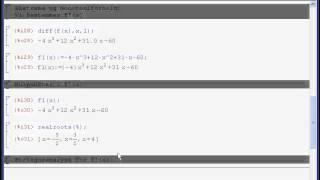 30 - maxima - polynomier - 4.grad. - nulpunkter, monotoni, ekstrema, værdimængde.avi
