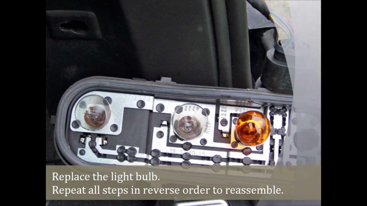 Audi A4 tail light bulb replacement  YouTube