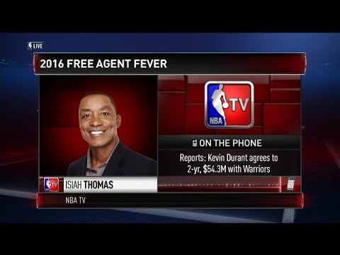 Isiah Thomas on Kevin Durant decision to join the Warriors