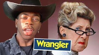 Country Fans MAD Lil Nas X Signed with Wrangler Jeans