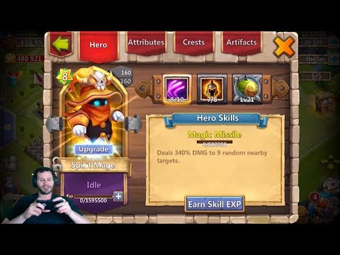Free 2 Play Spirit Mage Account Rolling 20k For Heroes Castle Clash