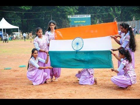 71st Independence Day celebrated at Mangaluru Neharu Maidan