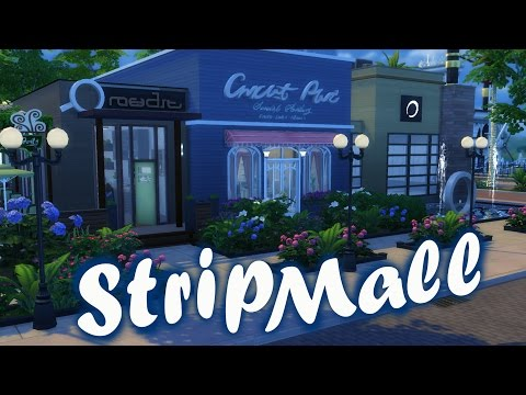 The Sims 4 | Speed Build: Strip Mall - yoga studio . cafe . boutique
