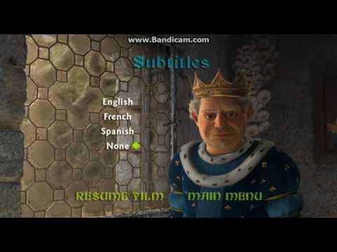 Shrek Ii 2005 Dvd Menu Walkthrough Youtube