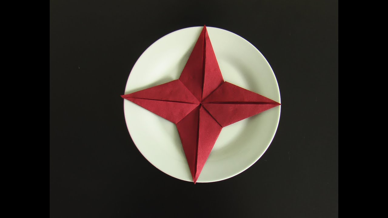 Fold A Napkin In The Shape Of A Star