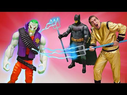 Видео для мальчиков - Бэтмен и Супергерои против Джокера! - Игры онлайн на Фабрике Героев.