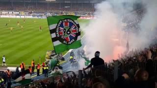 EINTRACHT BRAUNSCHWEIG gegen Hannover 96 Teil 2 BLOCK BRENNT