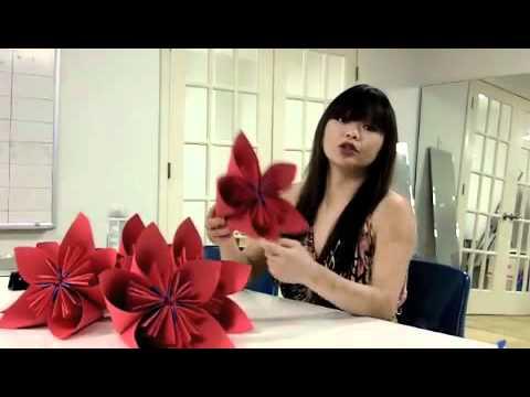 3d origami flower for the lot 8 window youtube mightylinksfo
