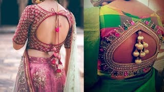 Download Latest Top Best Pot / Boat Neck Blouse for Saree Catalog || New Back Neck Designs Mp3 and Videos